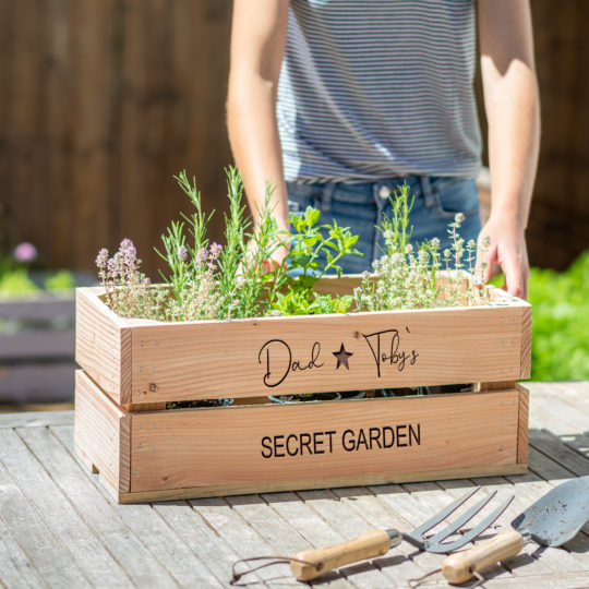 personalised herb garden for him