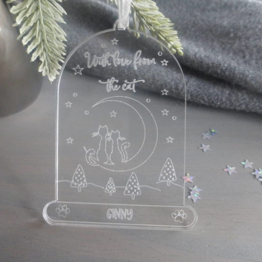 original_from-the-cat-personalised-cloche-christmas-decoration