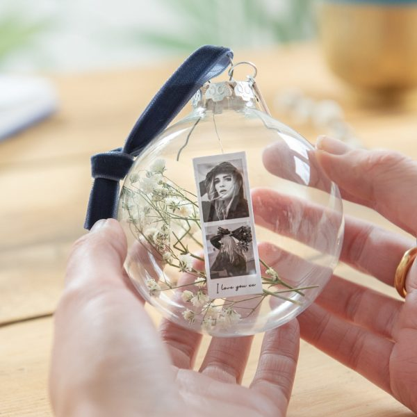 Personalised Glass Bauble Decoration